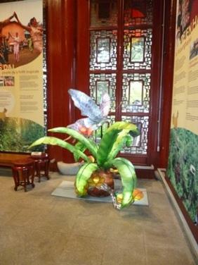 pavillons chine fleurs