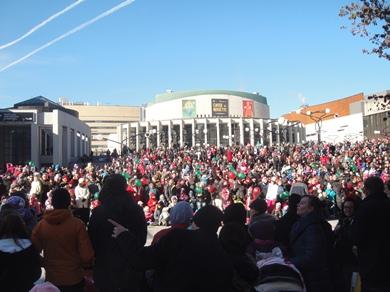 place des arts défile père Noël
