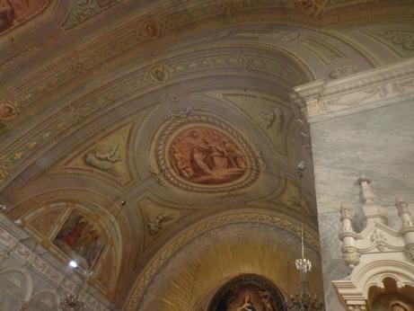 plafond de la chapelle