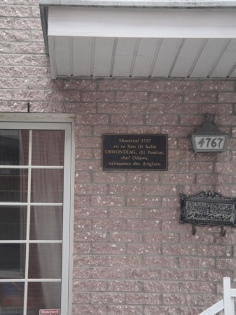 plaque de la rue pontiac