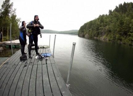 plongeur lac morgan