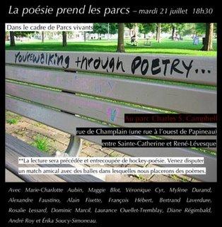 La poésie prend les parcs