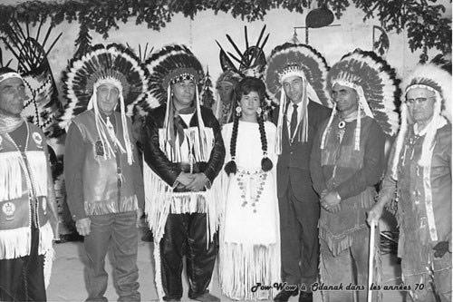 Pow wow à Odanak dans les années 1970