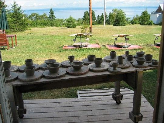 preparation au séchage poterie port au persil