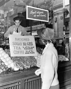 rationnement dans épicerie