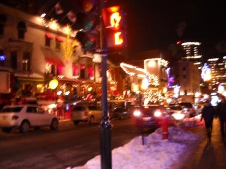 rue montréal en hiver