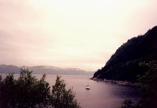 Le fjord à Sainte-Rose
