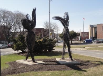 sculpture devant la mairie