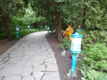 sentiers du jardin de chine