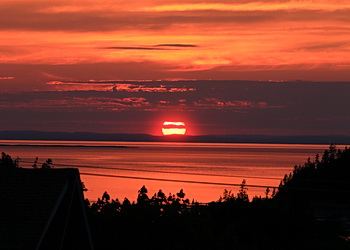 soleil se couche à bic