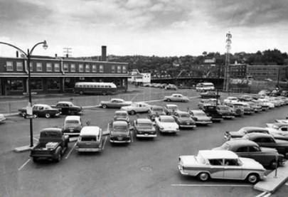 stationnement d'autobus à Sherbrooke