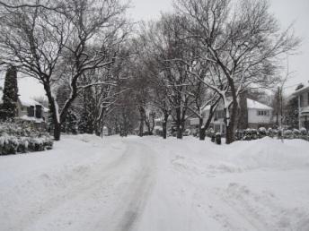 tempete de neige en février