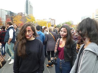 trois filles zombie