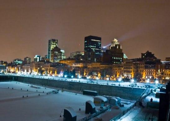 vieux port de montreal en hiver