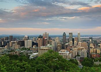 vue centre-ville de montréal