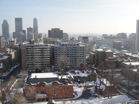 vue de montréal en hiver