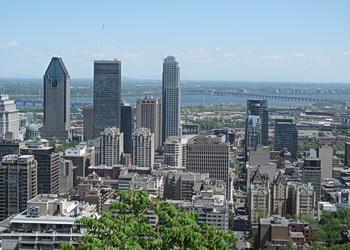 vue panoramique du centre-ville de Montréal